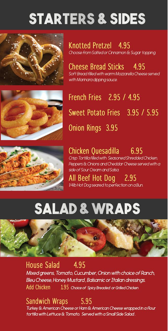 Starters, Sides, Salad & Wraps