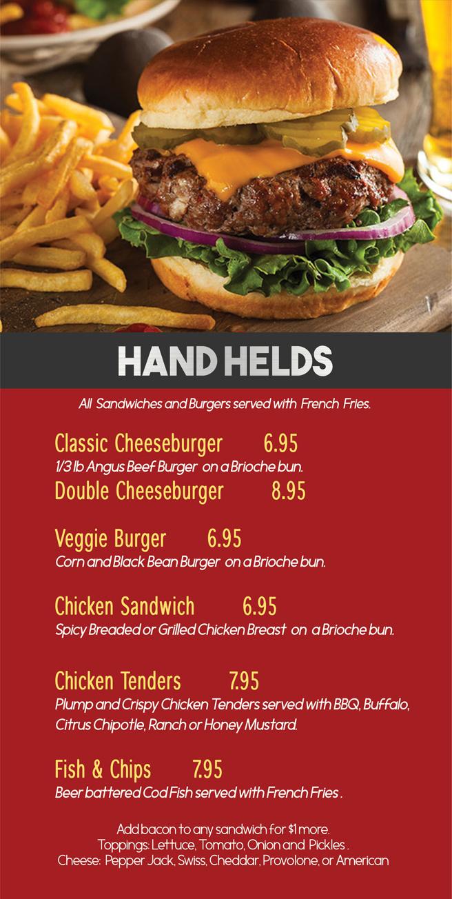 Burgers & Hand Helds